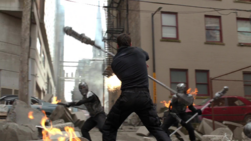 Mon-El defending National City