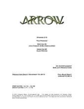 Arrow script title page - The Promise