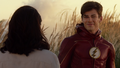 Barry reunites with Iris after taking down the Samuroid.png