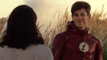 Barry reunites with Iris after taking down the Samuroid
