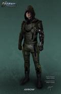 Earth-16 Oliver Queen as Green Arrow concept artwork