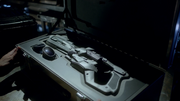The Cold Gun and its complimentary goggles in their stolen case