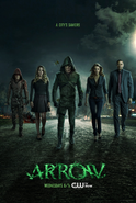 Arrow season 3 poster - a city's saviors