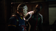 Wild Dog and Mister Terrific fight with Triada thug