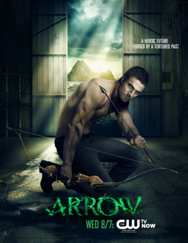 Arquivo:Arrow promo - A heroic future forged by a tortured past.png