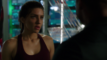Dinah talking with Diggle about his role as leader