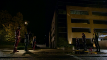 Barry, Kara, and Oliver face their Earth-X doppelgängers and Eobard Thawne