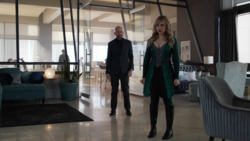 Lex and Gamemnae in Andrea's office