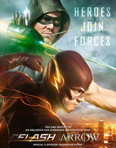File:Arrow and The Flash crossover poster - Heroes Join Forces.png