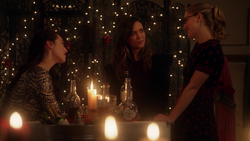 Kara, Lena and Sam at party