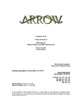 Arrow script title page - Time of Death