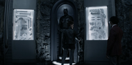 Kate and Luke in Batman's cave