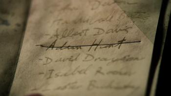 Adam Hunt's name crossed off The List
