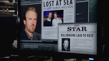 Oliver Queen reads a news article on his father's burial