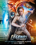 DC's Legends of Tomorrow season 2 poster - Special 4 Night Crossover Event Heroes v Aliens