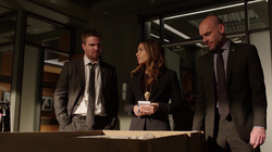 Dinah, Oliver and Lance talking about Goodwin