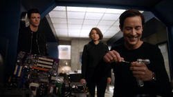 Eobard assisting Barry and Nora