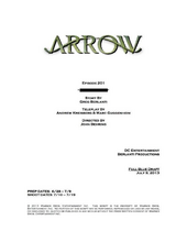 Arrow script title page - City of Heroes