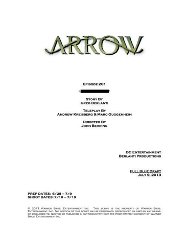 File:Arrow script title page - City of Heroes.png