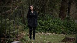 Evelyn at Laurel's funeral