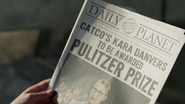 Daily Planet reporting Kara's Pulitzer Prize