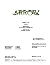 Arrow script title page - Sara
