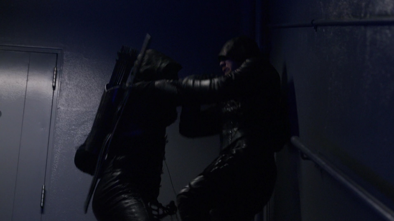 Prometheus fights Green Arrow
