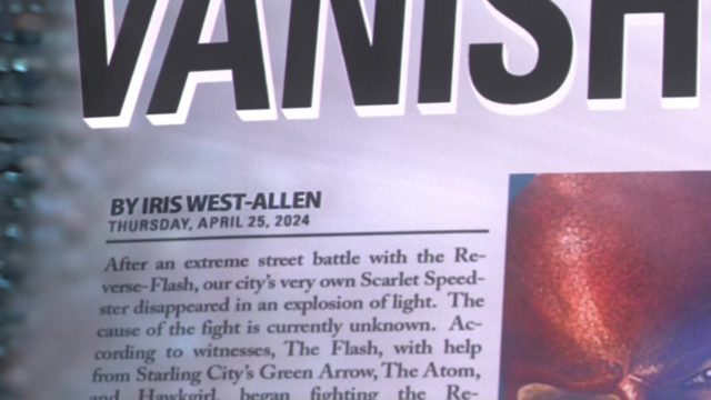 "File:Newspaper from the future displays the byline as ""Iris West-Allen"".png"