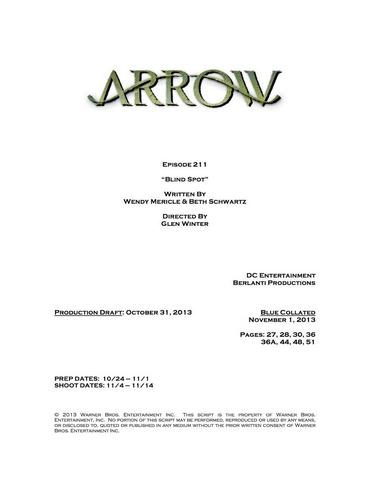 File:Arrow script title page - Blind Spot.png