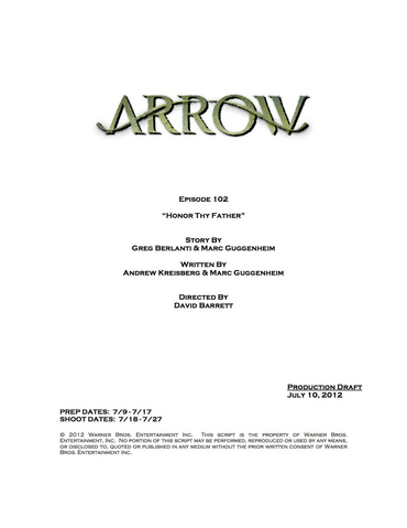 File:Arrow script title page - Honor Thy Father.png