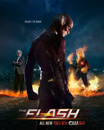 The Flash season 2 poster - Ready To Burn