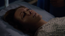 Laurel on her deathbed