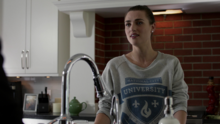 Lena's National City University sweatshirt