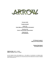 Arrow script title page - Three Ghosts