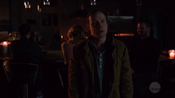 Stanley holds William, Felicity and Oliver hostage