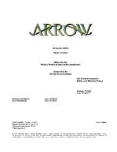Arrow script title page - Next of Kin