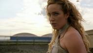 Sara Lance fighting Damien Darhk Out of Time