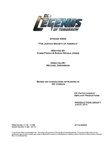 File:DC's Legends of Tomorrow script title page - The Justice Society of America.png