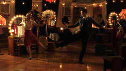 Kara and Barry tap dance
