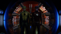 The Reverse-Flash and the Flash stand at the entrance to the Pipeline.png