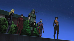 Black Canary, The Flash, Green Arrow, Atom and Vixen