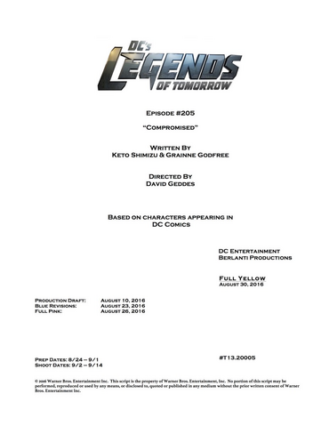 File:DC's Legends of Tomorrow script title page - Compromised.png
