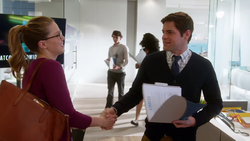 Winn meeting Kara for the first time