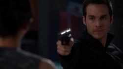 Mon-El pulls a gun on his mother
