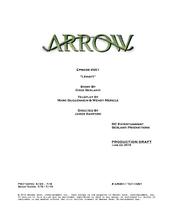 Arrow script title page - Legacy