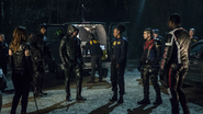 Team Arrow talks to FBI