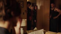 Dinah Rene and Curtis at Diggle's apartment