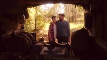 Slade camping with Joe