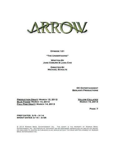 File:Arrow script title page - The Undertaking.png