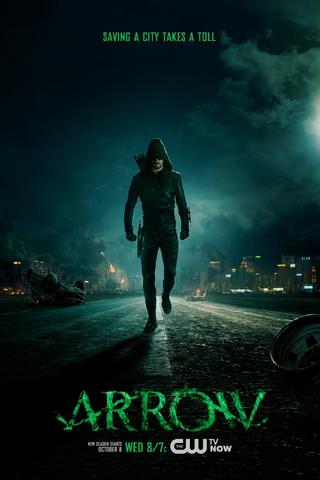 File:Arrow season 3 poster - saving a city takes a toll.png